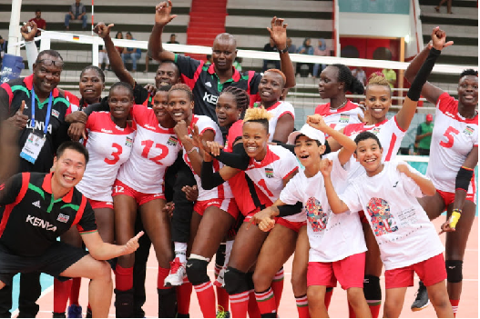 Malkia strikers win Gold Medal in Womens Volleyball