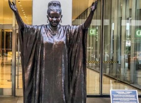 Tererai Trent, Zimbabwean Scholar, honored through a bronze statue in New York City