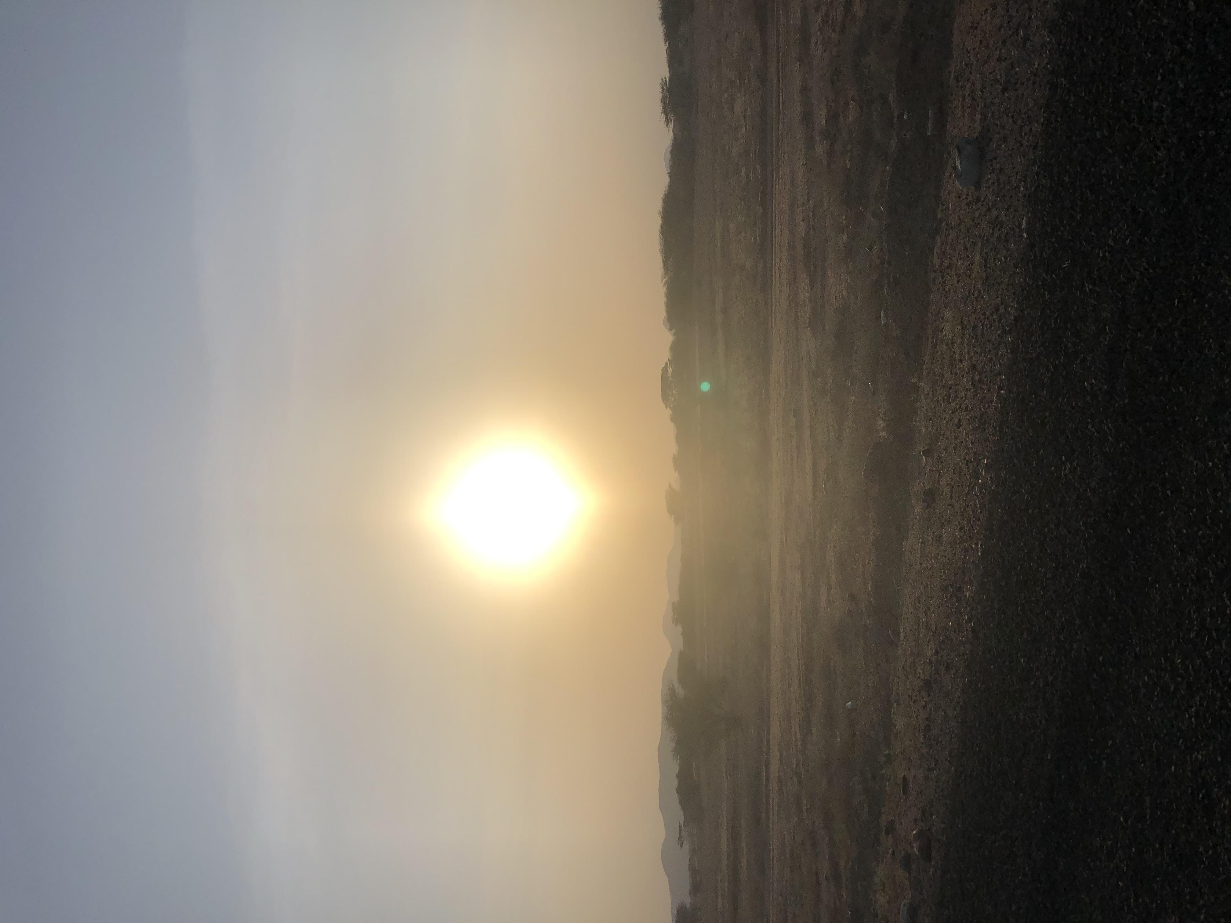Beautiful sunset in Lodwar Town Turkana