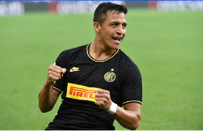 Alexis Sanchez Scores in his first Start for Inter but gets sent off