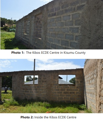 Kibos ECDE Center which stalled for 5 years is now on course