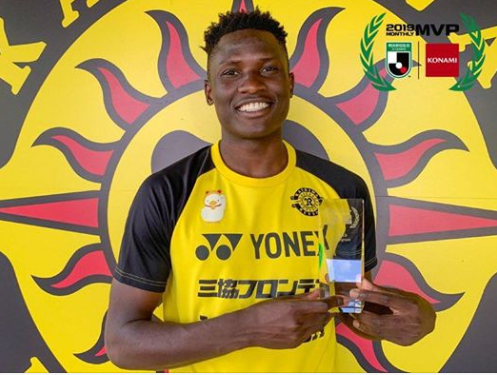 Michael Olunga named player of the month for Japan League two (J2)