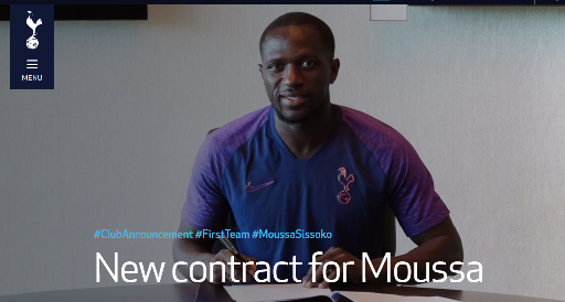 Moussa Sissoko signs a new contract at Spurs