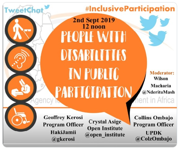 Twitter chat: People with disabilities in public participation