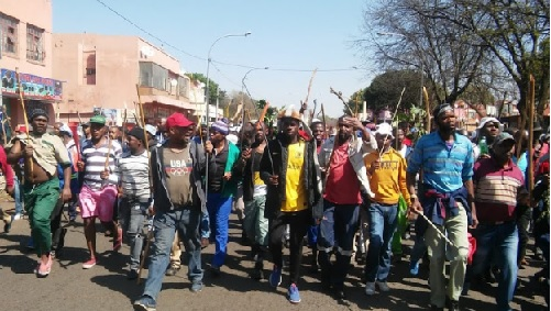 """Protesters from eastern Jo'burg have begun marching along Jules Street singing -foreigners must go back to where they came from,"" Sowetan Live"