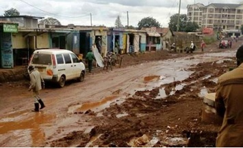 Kikuyu road gives a bumpy ride