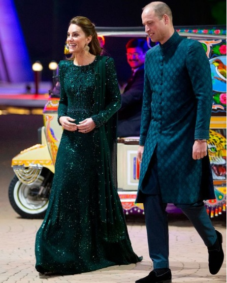 Kate Middleton shines in £3500 dress as she joins her husband Prince William during a Pakistan visit