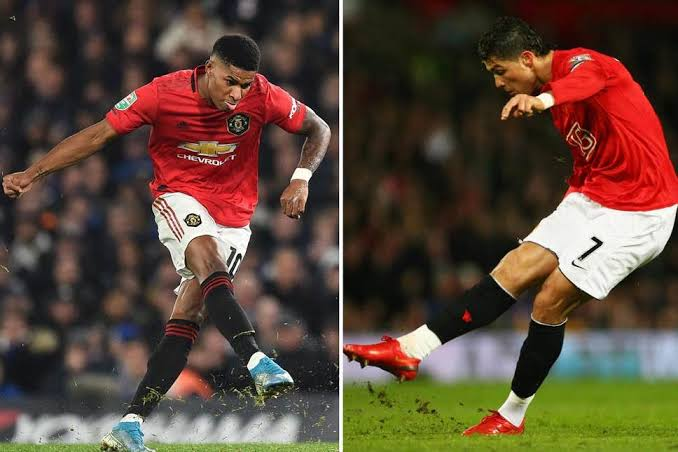 Marcus Rashford is compared to Cristiano Ronaldo