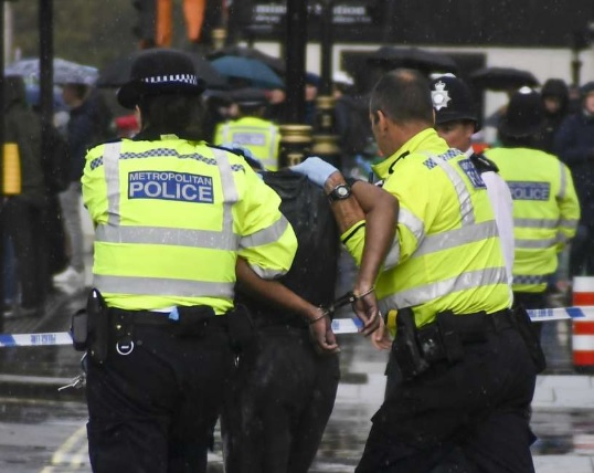 Man attempts to set himself on fire near UK parliament in London