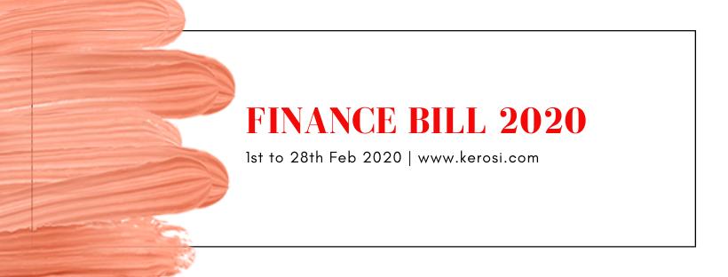 Process to formulate Finance Bill 2020 starts in earnest