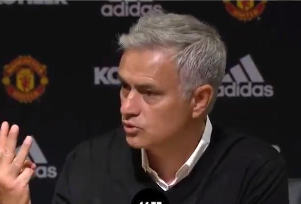 Jose Morinho walks off a press conference and demands respect