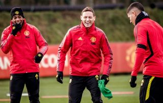 Luke Shaw, Axel Tuanzebe and Nemanja Matic are back in full Manchester United training