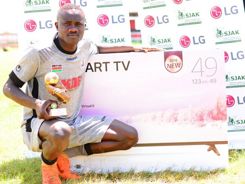Ulinzi Stars Goalkeeper Timothy Odhiambo is the SJAK player for the month of October