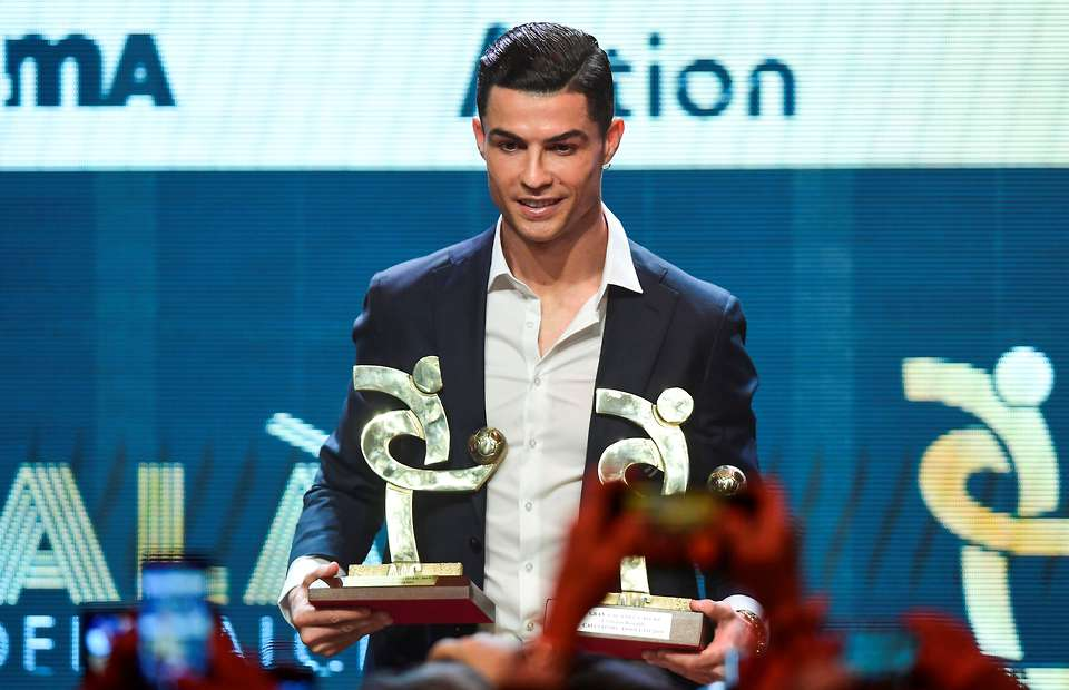 Cristiano Ronaldo named best player in Serie A for last season