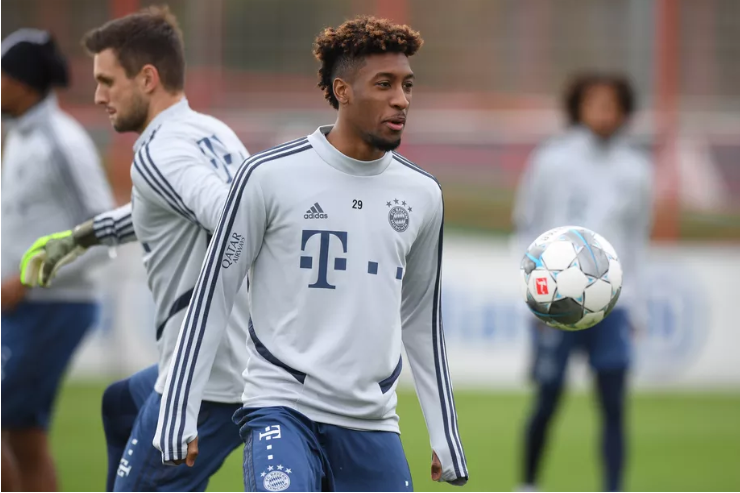 Kingsley Coman returns to full Bayern Munich training