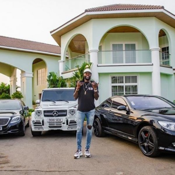 Adebayor shows off his cars and mansion