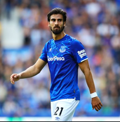 Everton's Andre Gomes is available for selection against Arsenal