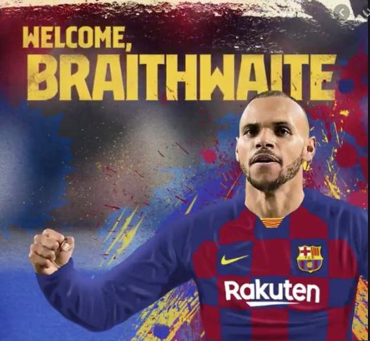 Barcelona sign Martin Braithwaite from Leganes