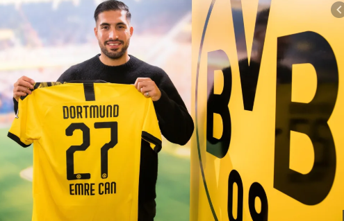 Emre Can to join Dortmund on a permanent deal