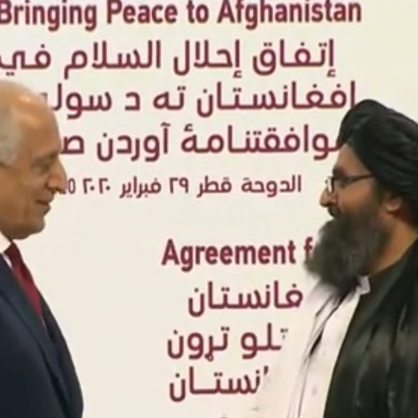 "USA and Taliban sign a 'historic"" peace deal"