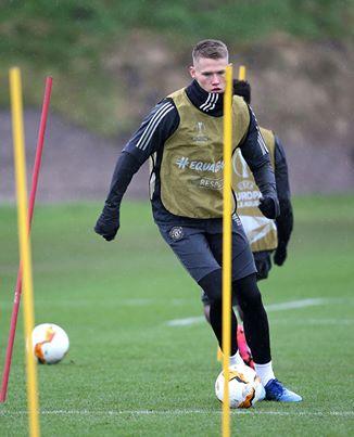 Scott McTominay back in Manchester United training