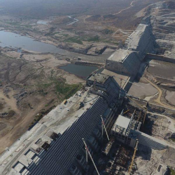 Grand Ethiopia Renaissance Dam across the Blue Nile