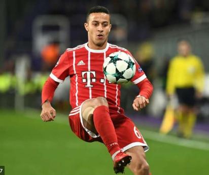 Thiago to miss Bayern clash with Dortmund
