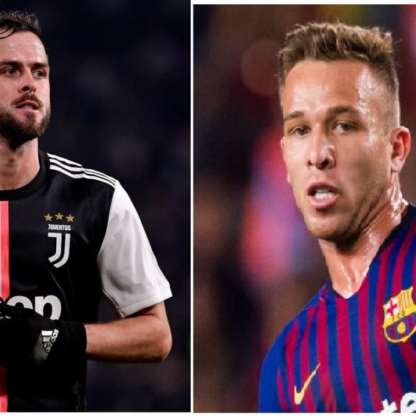 Barcelona's Arthur and Juventus' Miralem Pjanic in swap deal