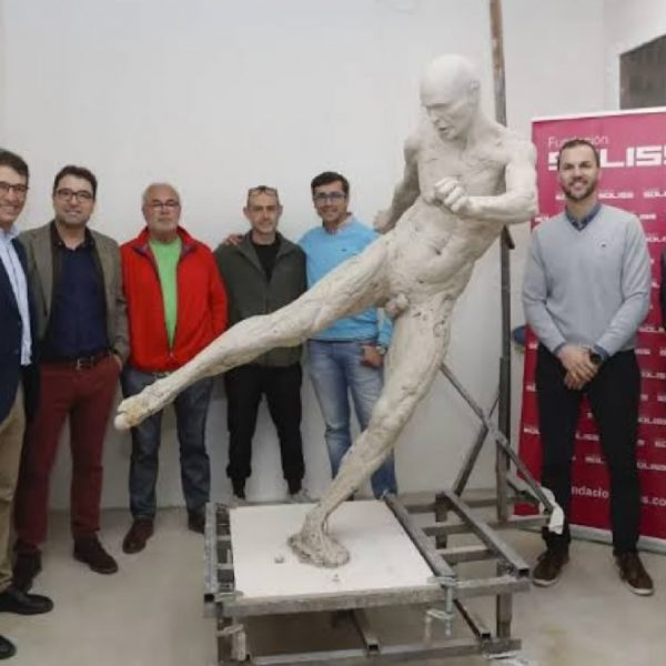 Spain honour Barcelona soccer star Iniesta with a statue for World Cup winning goal in 2010