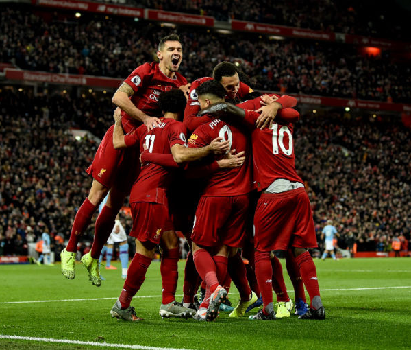 Liverpool win the Premier League title