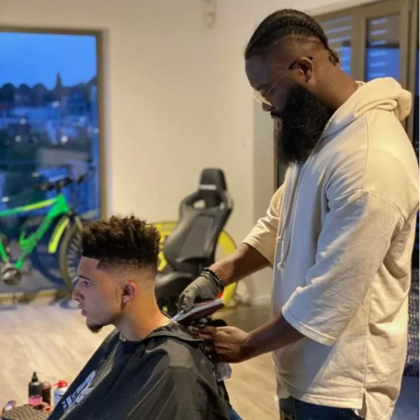 Sancho fined for home haircut picture
