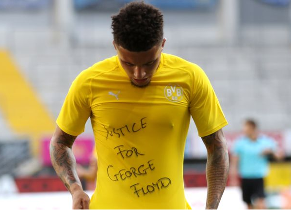 Sancho reveals 'justice for George Floyd' t-shirt after scoring against Paderborn