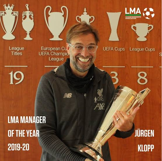 Liverpool manager Klopp named LMA manager of the Year