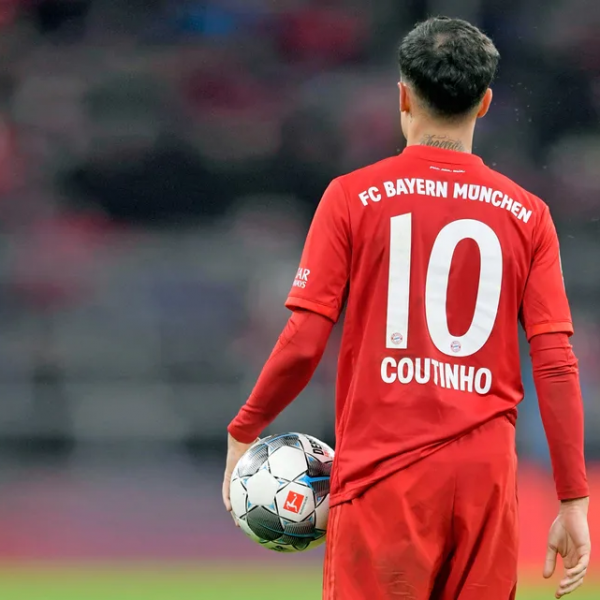 Sane takes Coutinho's number 10 shirt at Bayern