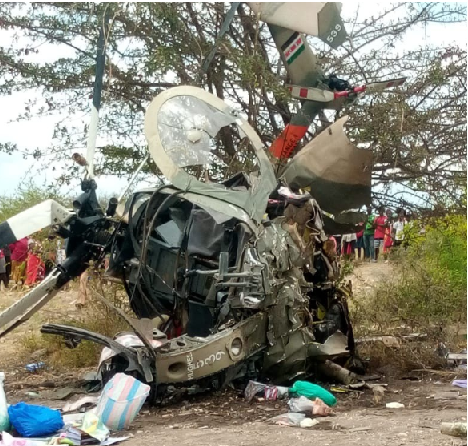 Two people dead after Kenya Air Force aircraft crashes in Masinga Sub County
