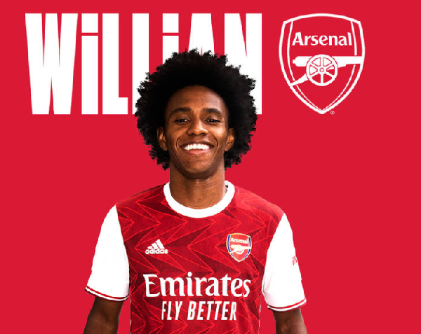 Arsenal confirm the signing of Willian