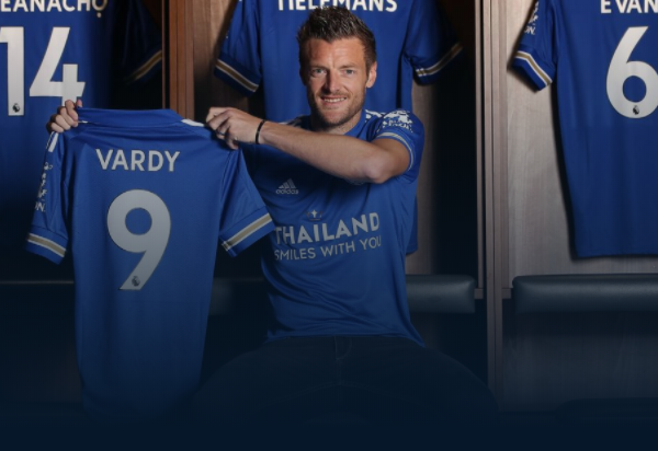 Jamie Vardy extends his Leicester City contract