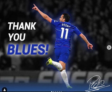 Pedro Rodriguez says farewell to Chelsea ahead of his move to AS Roma