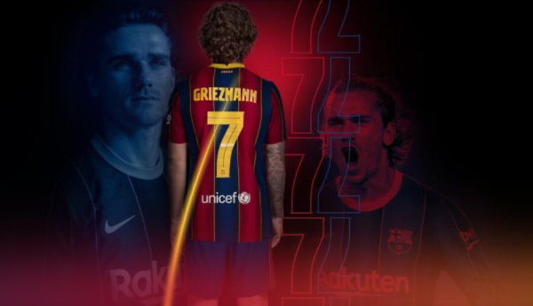 Antoine Griezmann is the new Barcelona Number 7