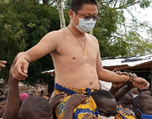 A Chinese man has just been made chief in Ghana