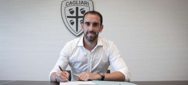 Godin joins Cagliari from Inter on a three-year contract