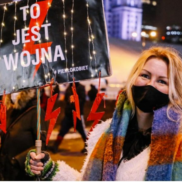 Mass demonstrations  against Poland's near total ban on abortions