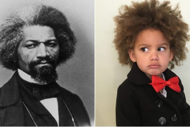 Daily dress up game teaches this child about black history