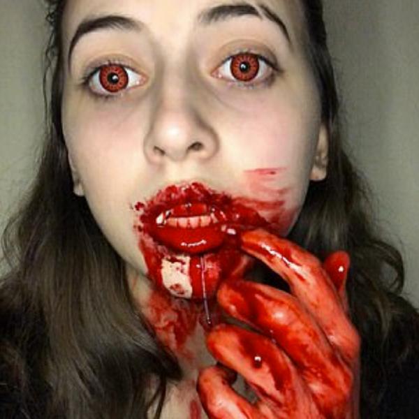 Makeup artist goes viral on TikTok for her gory looks