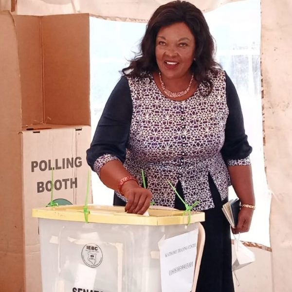 Agnes Kavindu Muthama leads in the Machakos Senatorial by-election race