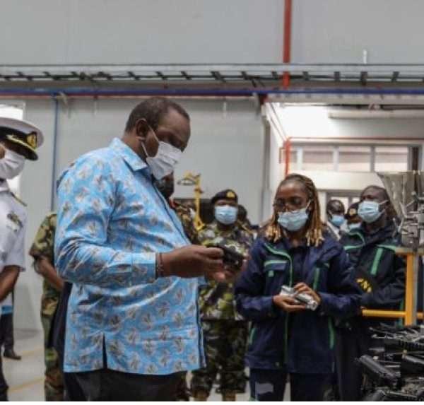 President Uhuru Kenyatta Commission a gun manufacturing factory in Ruiru