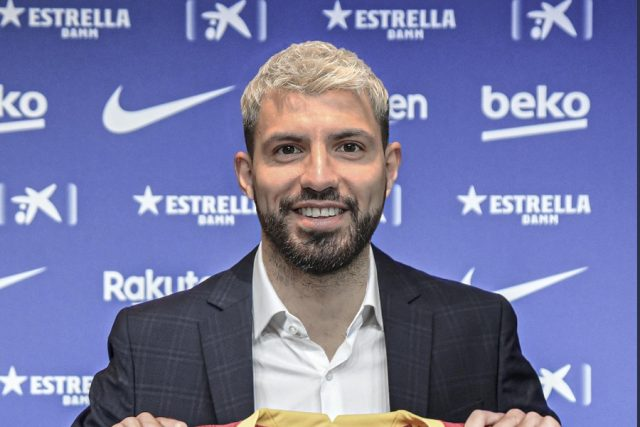 Barcelona has confirmed the signing of Sergio Aguero
