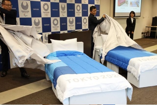 Tokyo Olympics installs cardboard beds inside Olympic Village