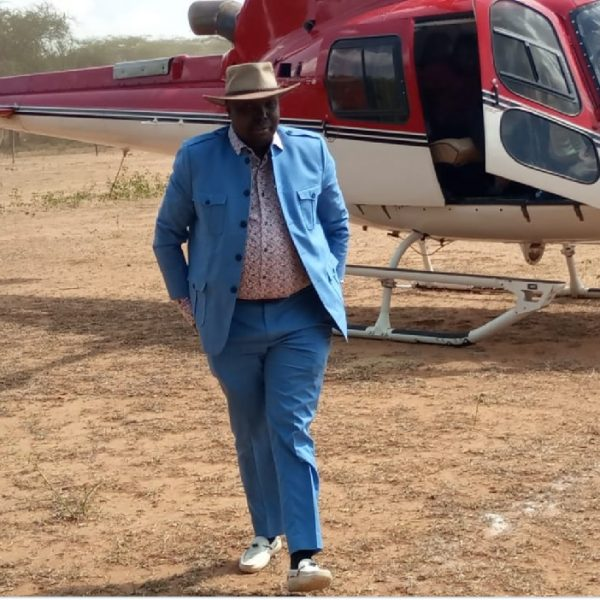 David Pkosing MP for Pokot South imports a brand new helicopter